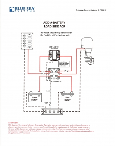 dual batter charger 1997 explorer 215 the original wiring diagram posted by czizza did not contain the on off switch it makes sense that the switch when off removes the acr from the