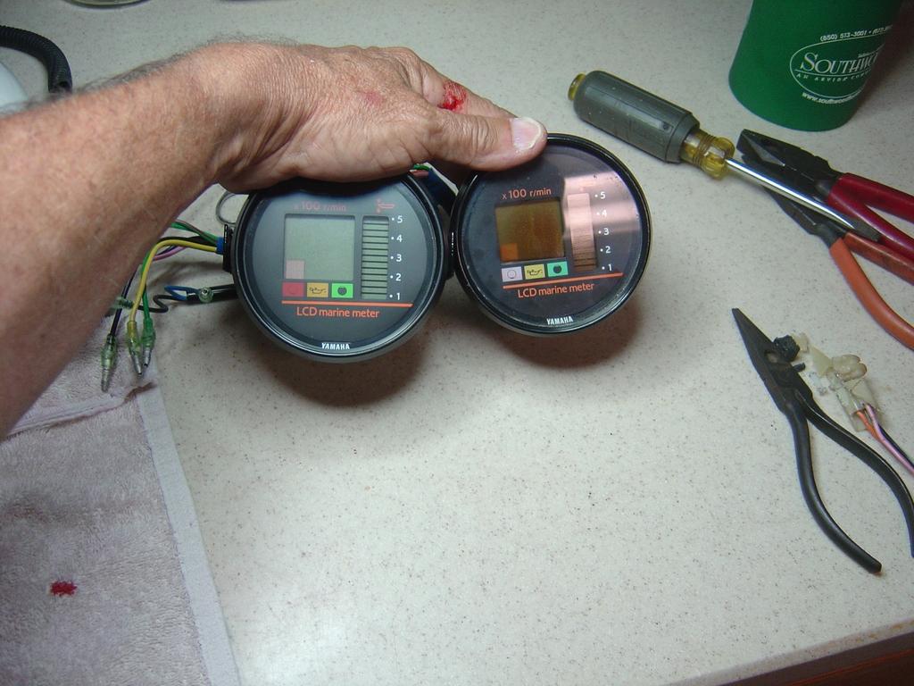 lcd 4 pin wiring diagram yamaha gauge replacement lcd marine meter wiring diagram